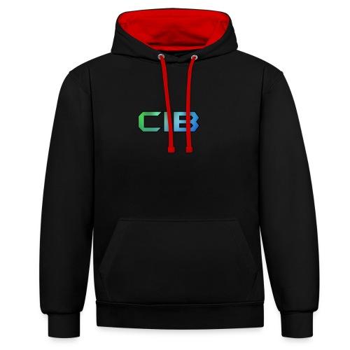 CuzImBacon Grønn og Blå logo - Kontrast-hettegenser