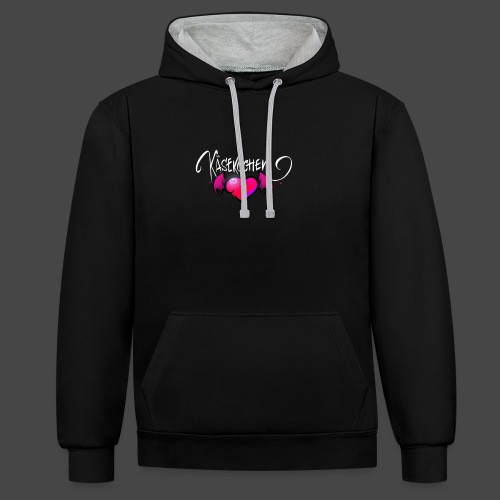 Logo and name - Contrast Colour Hoodie