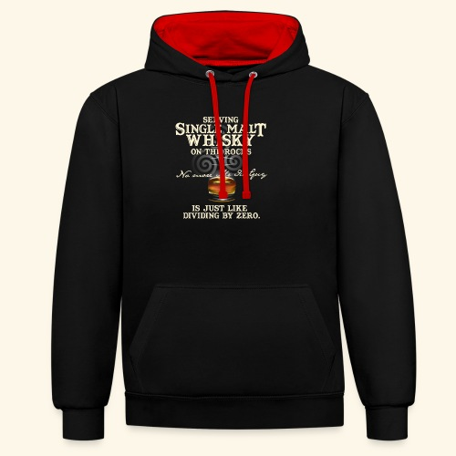 Whisky T-Shirt Single Malt Whisky - Kontrast-Hoodie