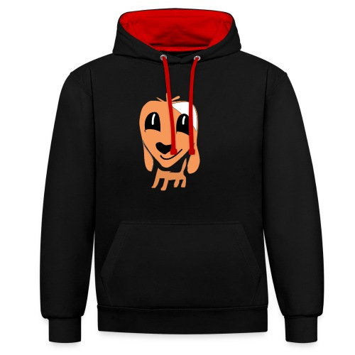 Hundefreund - Contrast Colour Hoodie