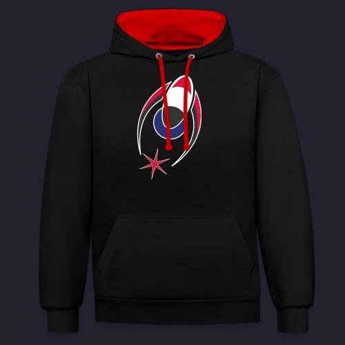 Logo Alone - Contrast Colour Hoodie