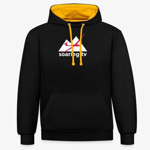 soaring-tv hoodie (premium quality) - Kontrast-Hoodie