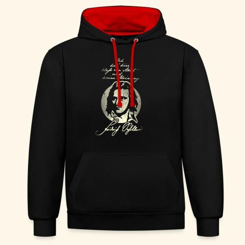 Schiller Zitat T-Shirt Design - Kontrast-Hoodie