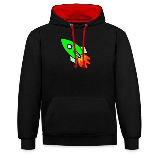 neon green - Contrast Colour Hoodie