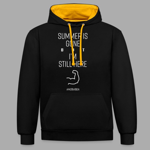 SUMMER IS GONE but I'M STILL HERE - Contrast Colour Hoodie