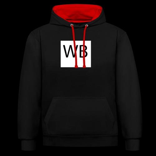 WB Logo - Kontrast-Hoodie