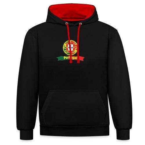 Portugal Campeão Europeu Camisolas de Futebol - Contrast Colour Hoodie