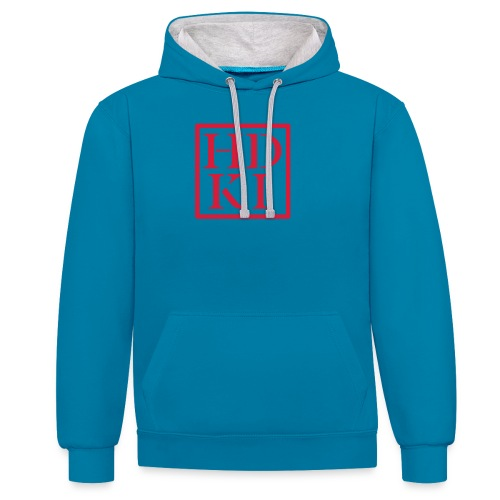 HDKI logo - Contrast Colour Hoodie