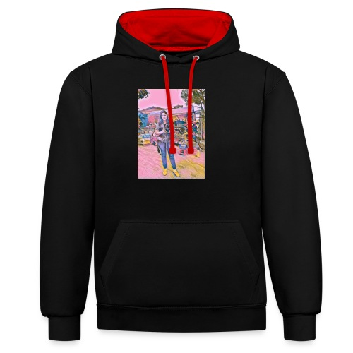 238745309072202 - Contrast Colour Hoodie