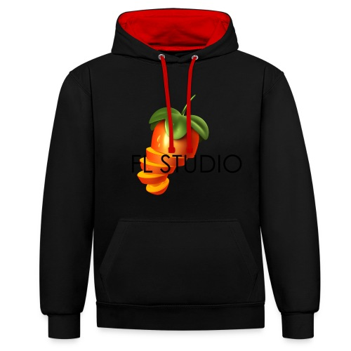 Sliced Sweaty Fruit - Contrast Colour Hoodie