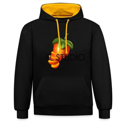 Sliced Sweaty Fruit - Contrast Colour Hoodie
