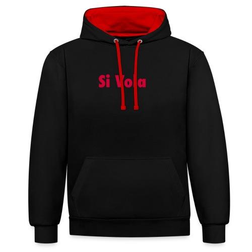 SiVola - Felpa con cappuccio bicromatica