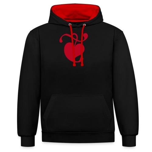 TDKOL Heart - Contrast Colour Hoodie