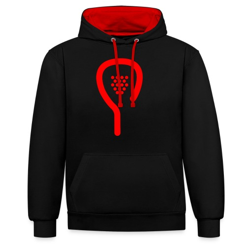 raquette rouge - Sweat-shirt contraste