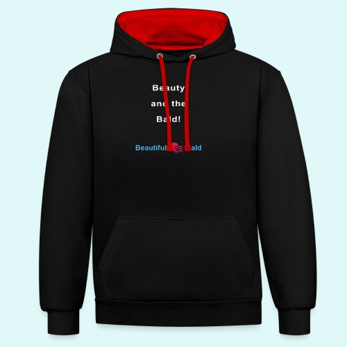 Beauty and the bald-w - Contrast hoodie