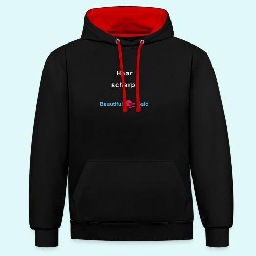 Haarscherp-w - Contrast hoodie