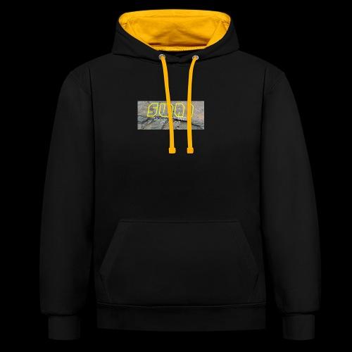 swai stoned yellow - Kontrast-Hoodie