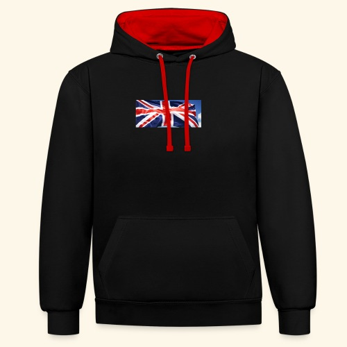 UK flag - Contrast Colour Hoodie