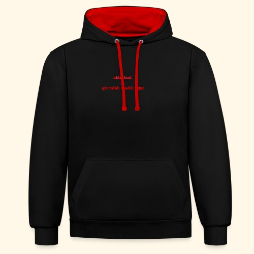 Good bye and thank you - Contrast Colour Hoodie