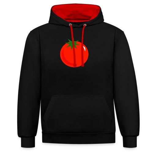 Tomate - Sudadera con capucha en contraste