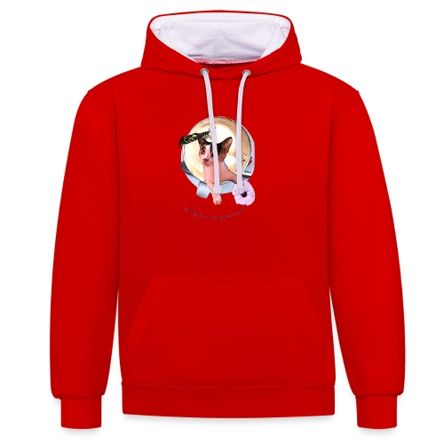 Ready for a cappuchino? - Contrast Colour Hoodie