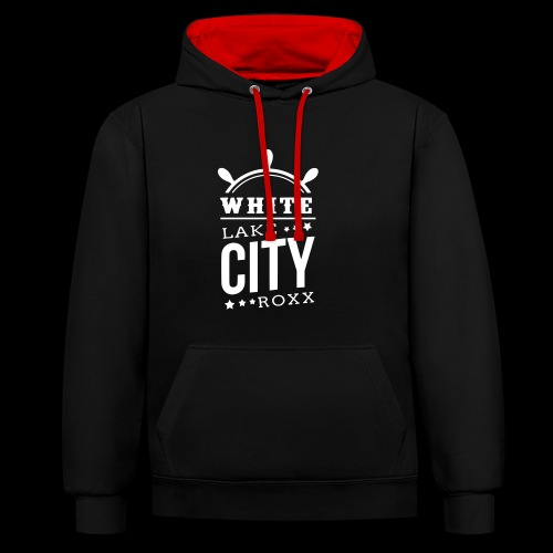 White Lake City Roxx Hoch - Kontrast-Hoodie