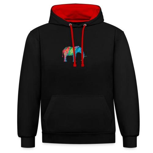 Elefant - Contrast Colour Hoodie