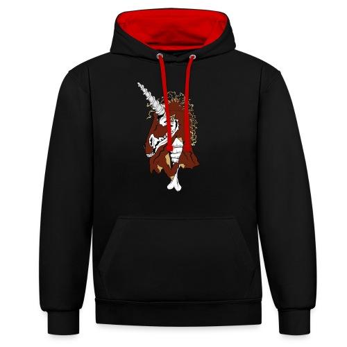 Unicorn - Kontrast-Hoodie