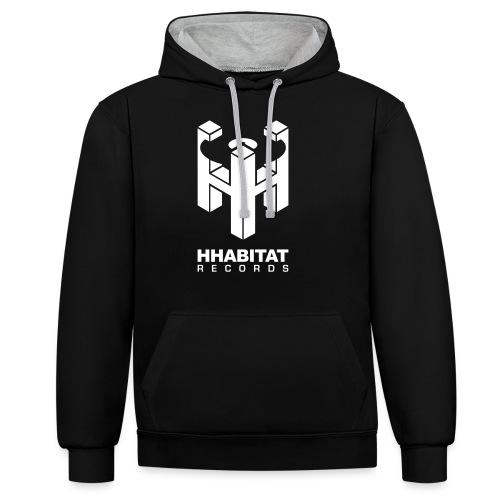 HHabitat Records Logo - Felpa con cappuccio bicromatica