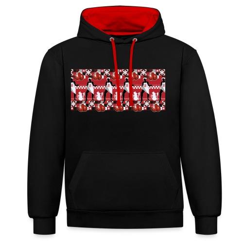 Motif Noël J'ai les boules (sans texte) - Sweat-shirt contraste