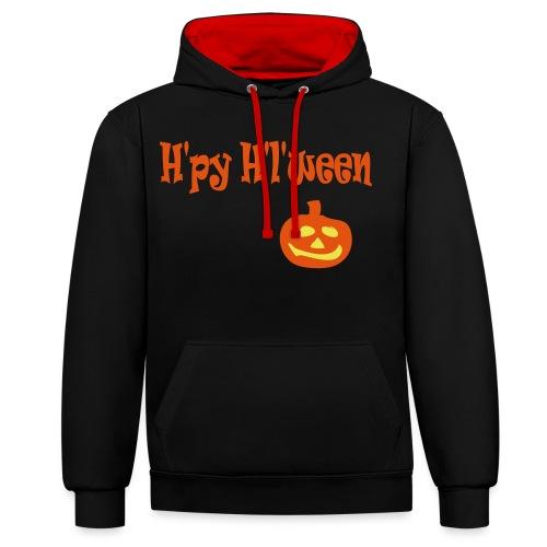 Happy Halloween - Kontrast-Hoodie