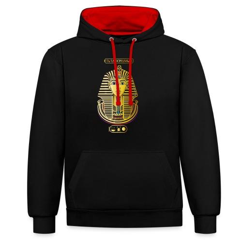 Tutanchamun I Goldmaske I Ägypten - Kontrast-Hoodie