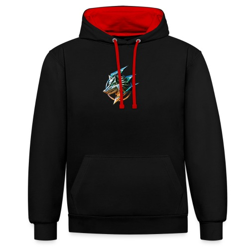 AZ GAMING WOLF - Contrast Colour Hoodie
