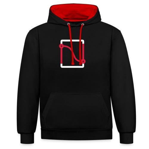 NodevemberIO logo - Contrast Colour Hoodie
