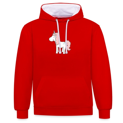 unicorn as we all want them - Kontrast-hættetrøje