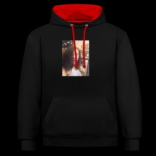 freya ft one d - Contrast Colour Hoodie