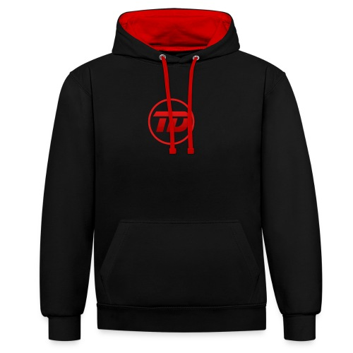 Red DyNo Logo - Contrast Colour Hoodie