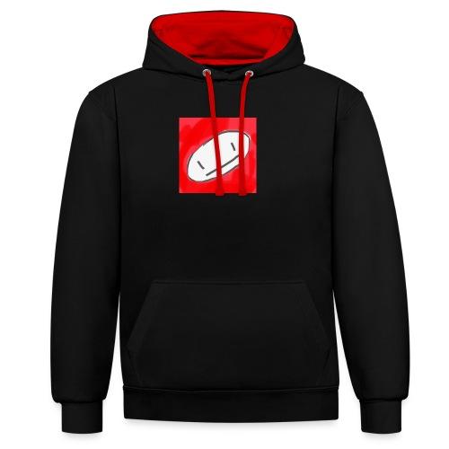 WoW RED/BLACK - Kontrast-Hoodie
