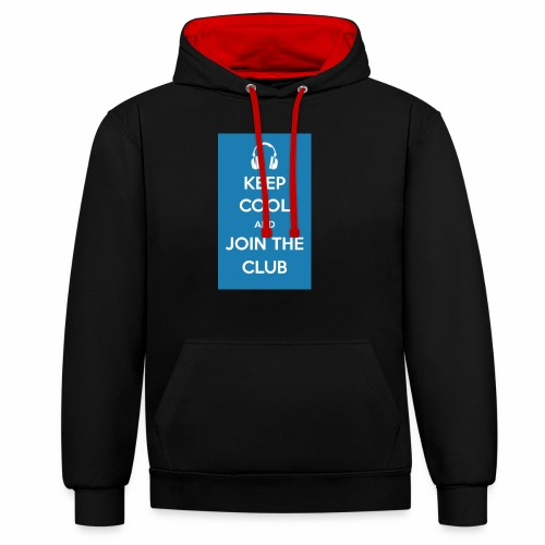 Join the club - Contrast Colour Hoodie