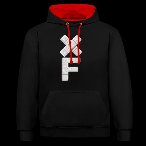 XF Xanax Logo - Kontrast-Hoodie
