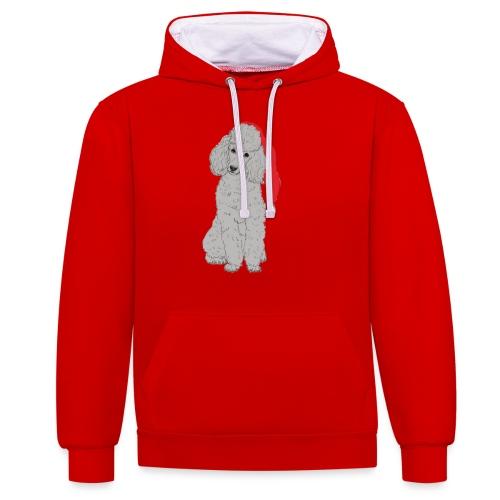 Poodle toy G - christmas - Kontrast-hættetrøje