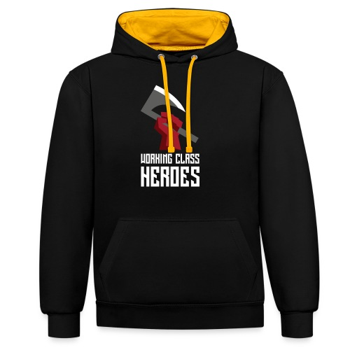 WORKING CLASS HEROES - Contrast Colour Hoodie