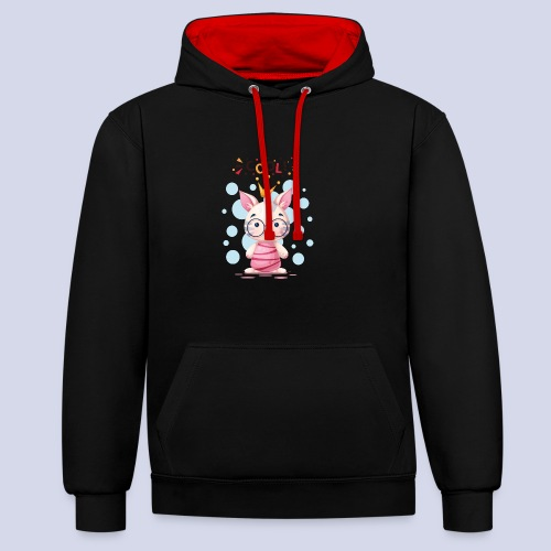 Nice Cat, Kitty Design for everyone - Contrast Colour Hoodie
