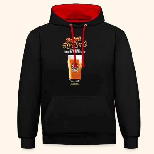 Drinking Shirt Project Blackout - Kontrast-Hoodie