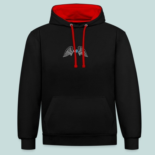 Bling angel - Contrast Colour Hoodie