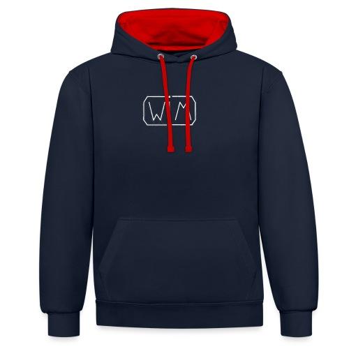WIM white - Contrast hoodie