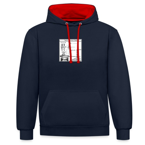 W.O.T War tactic, tank shot - Contrast Colour Hoodie