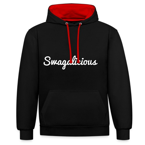 swagalicious png - Contrast Colour Hoodie