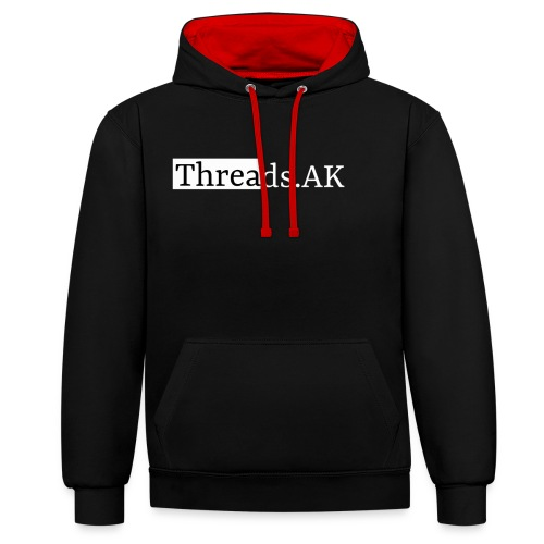 Threads.AK silhouette - Contrast Colour Hoodie