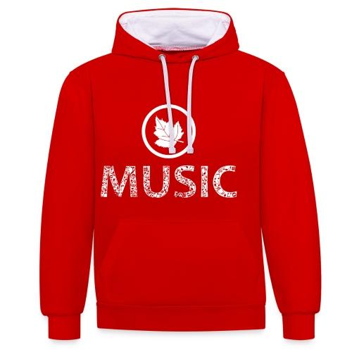 logo bashk music e bardhe - Contrast Colour Hoodie
